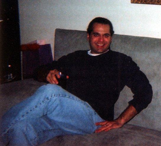 Paul Hrisko on my couch circa 2000, NYC.